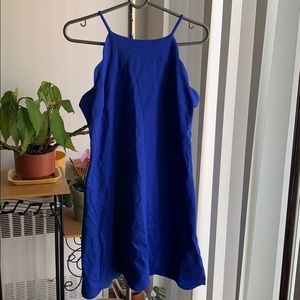 NWT love Ady Scallop Dress Royal Blue Size Large
